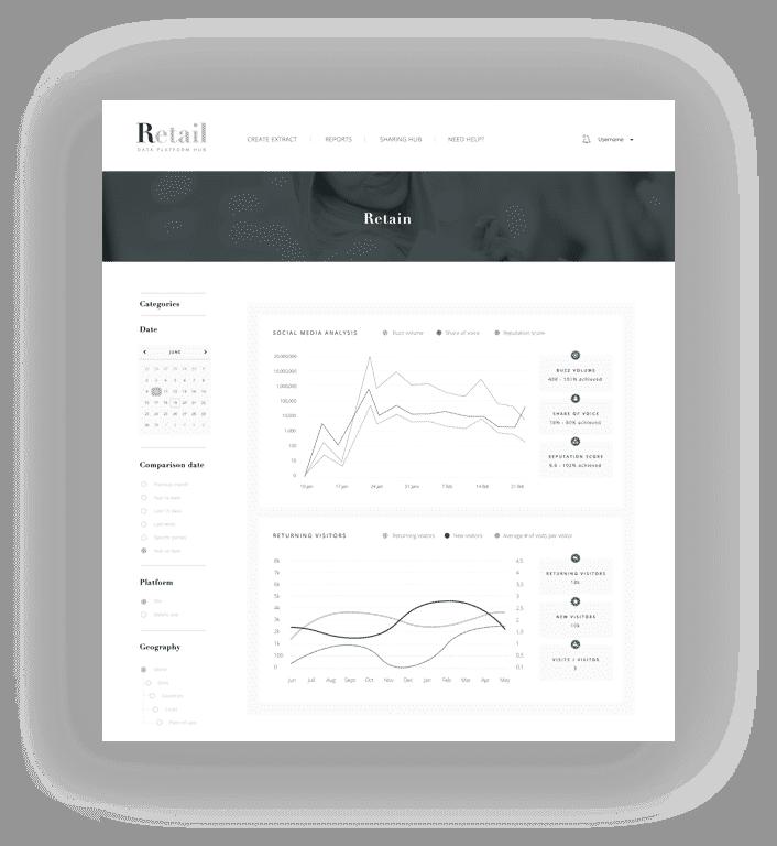 Design d'interface Retail