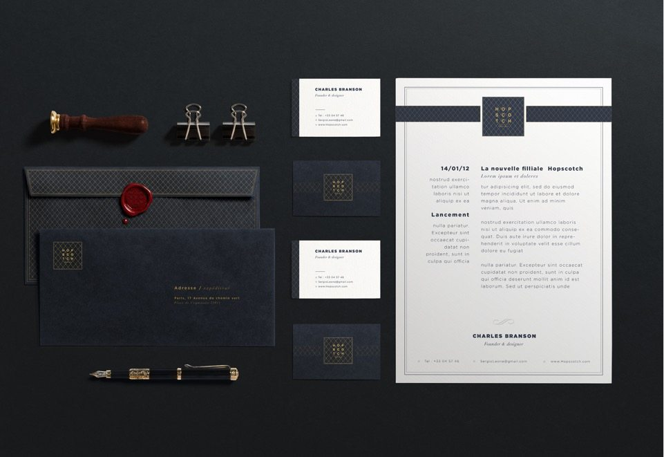 Charte graphique Hopscotch luxe