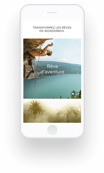 Ecran Iphone pour Wonderbox