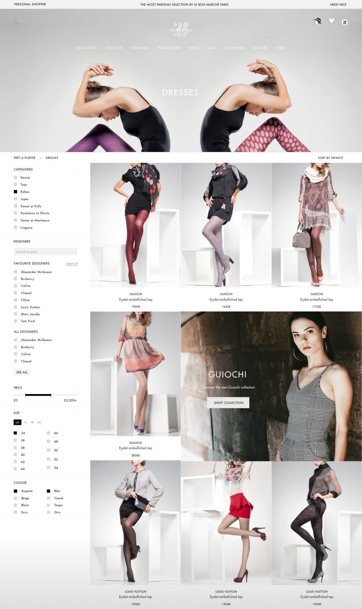 24 Sèvres e-commerce design luxe