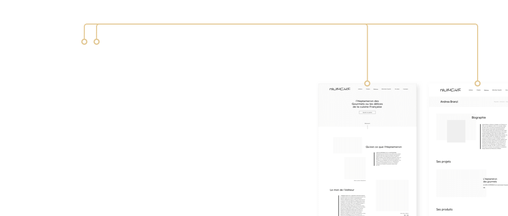 Wireframe UX Design Luxe 3