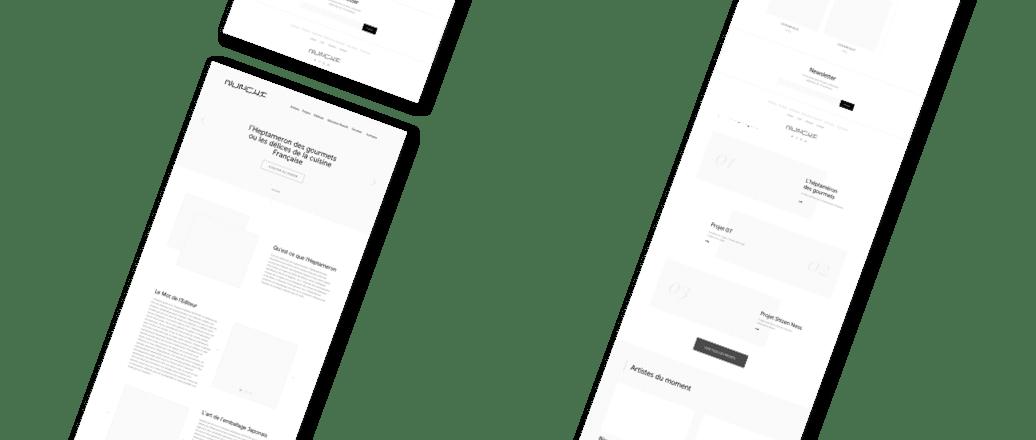 Wireframe, conception d'interface UX design premium 3