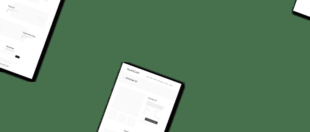 Wireframe, conception d'interface UX design premium 2