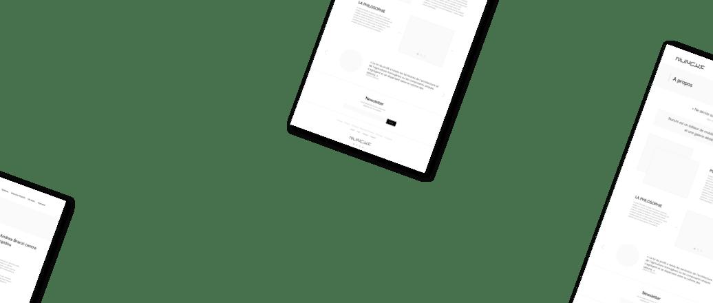 Wireframe, conception d'interface UX design premium