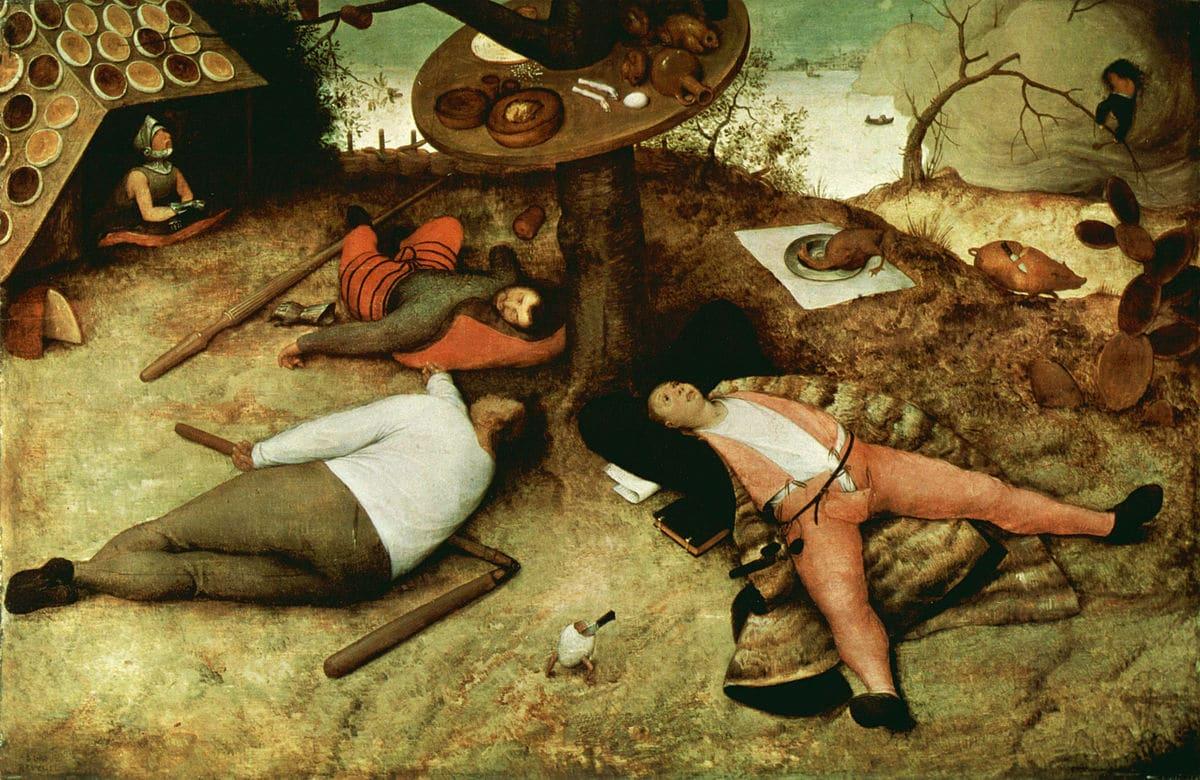 Le Pays de Cocagne - Pieter Brueghel l'Ancien