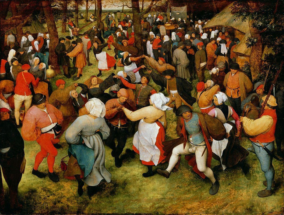 a danse de la mariée en plein air - Pieter Brueghel l'Ancien