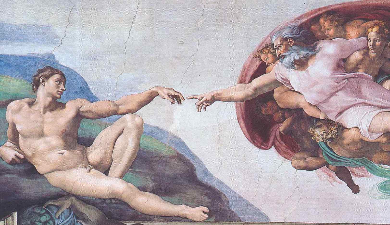 La création de l'homme - Michel-Ange