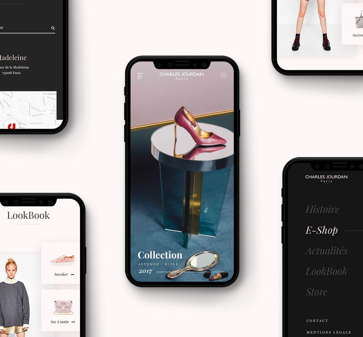 Iphones - Charles Jourdan UX/UI