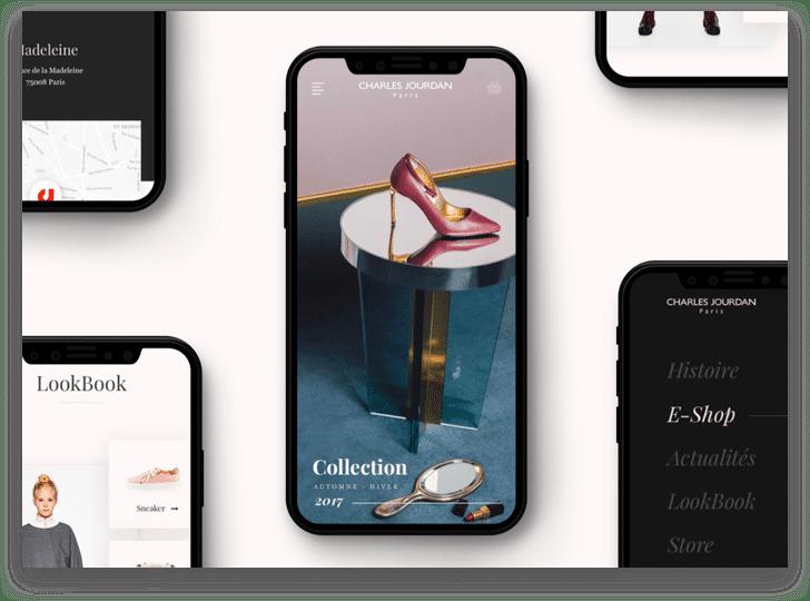 iPhones avec des écrans Charles Jourdan