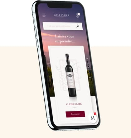 Iphone Millesima agence web vin et spiritueux luxe
