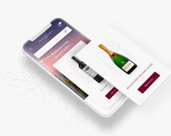 Création application mobile site vin et spiritueux