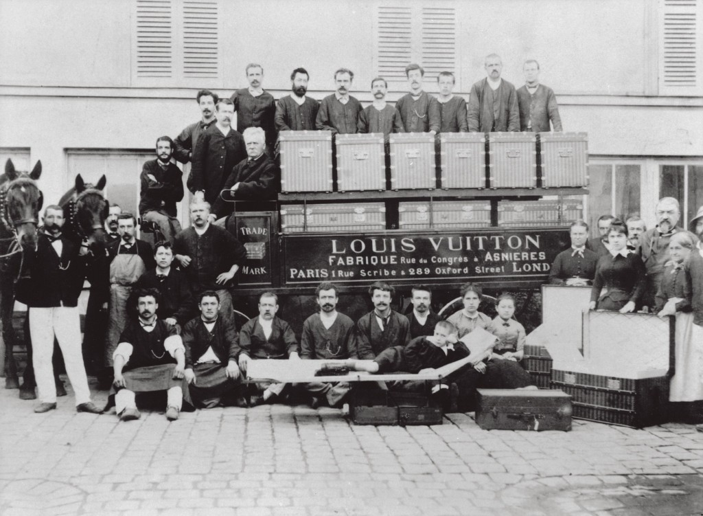 Photo de la Fabrique Louis Vuitton à Asnières en 1888