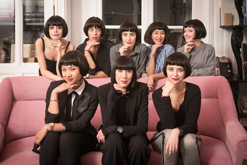 Chantal Thomass et sept influenceuses pour lancer la collection AH 2015 (source : Agence des médias sociaux)