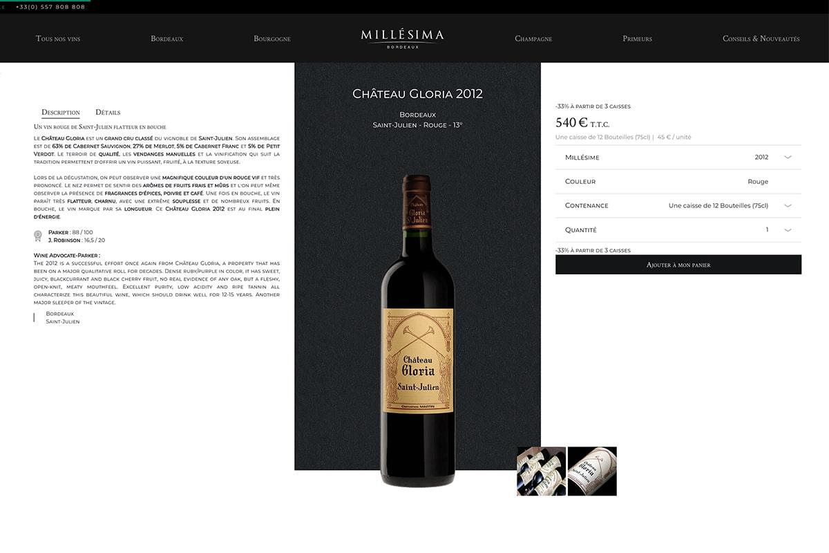 E-commerce vin et digital